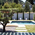 terrasse avec un olivier