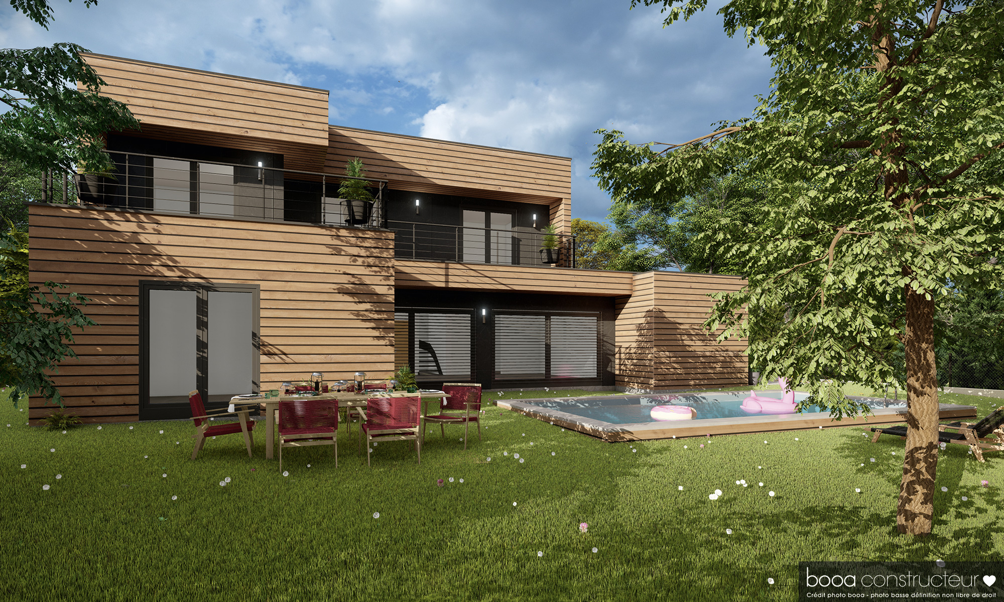 maison à ossature bois Rhône