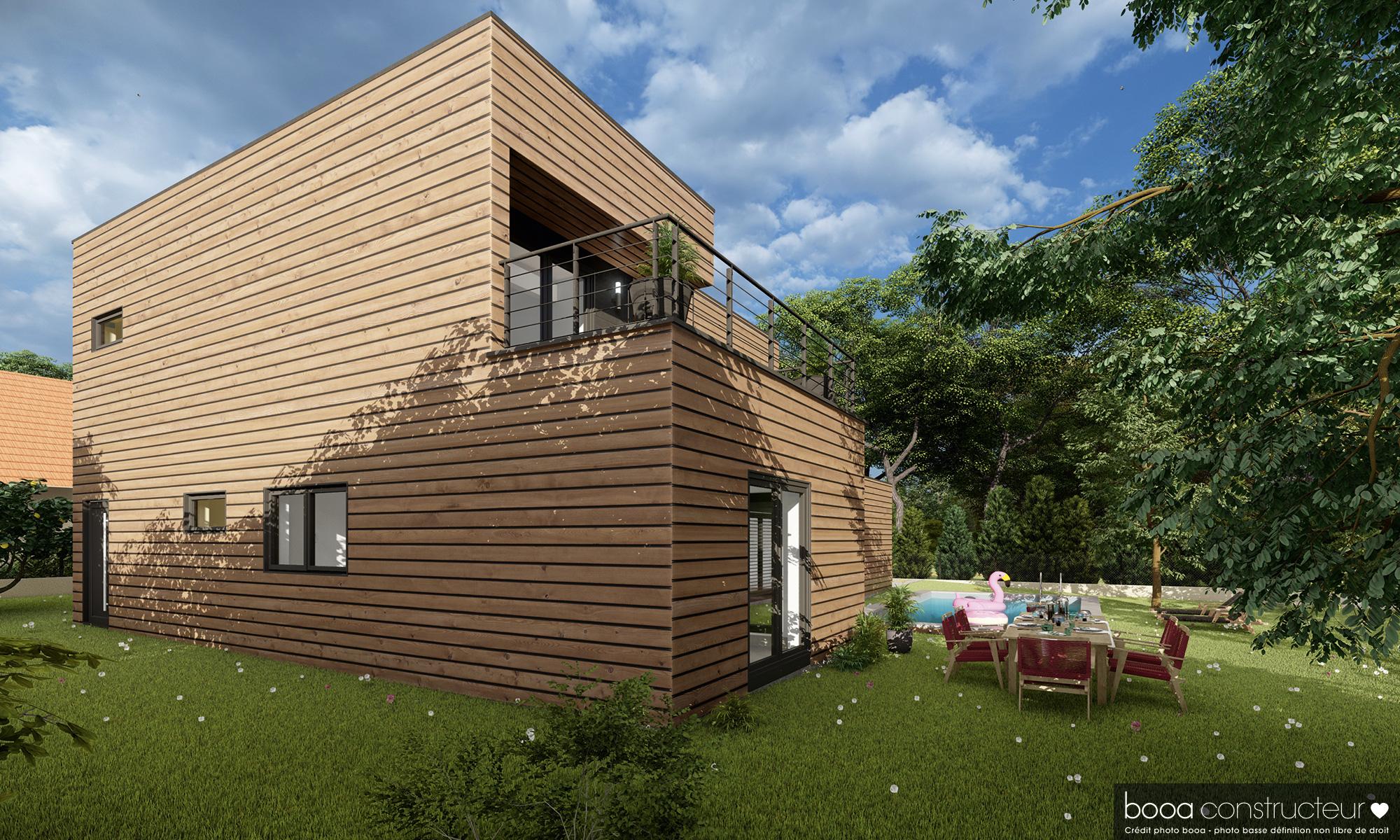 maison en bardage bois