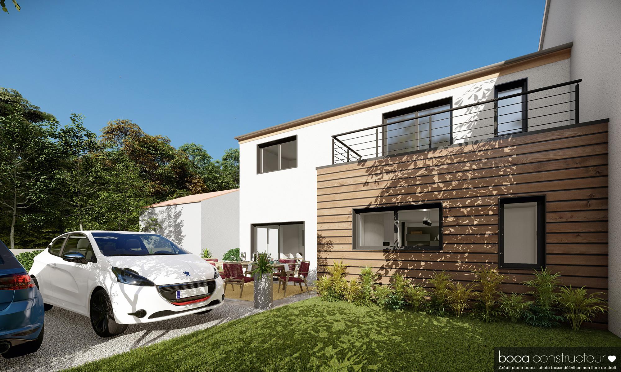 maison booa à toit pentu Rhône